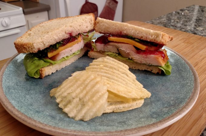 Sandwich on a Plate with chips