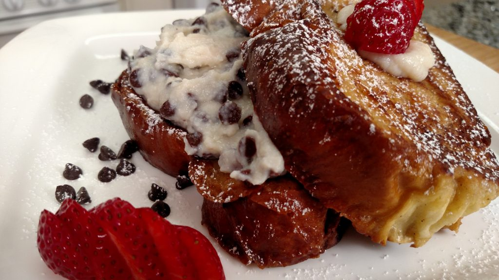 Cannoli Stuffed French Toast // Tiny Kitchen Big Taste // Michael Fucci
