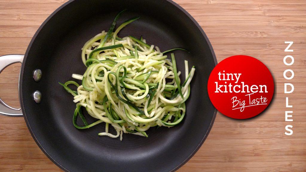 Sautéed Zoodles (Zucchini Noodles) // Tiny Kitchen Big Taste // Michael Fucci