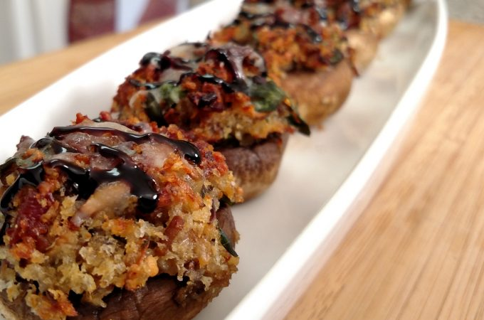 Bacon Stuffed Mushrooms // Tiny Kitchen Big Taste
