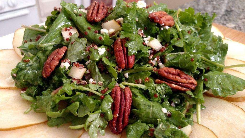 PGQ (Pear & Gorgonzola & Quinoa) Salad // Tiny Kitchen Big Taste
