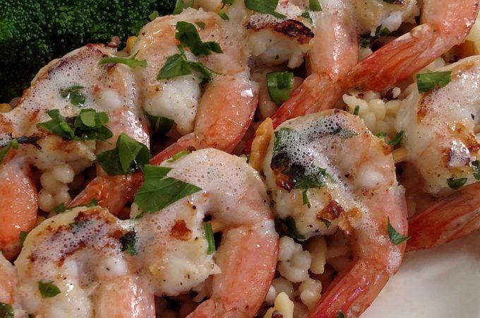 Brown-Butter Kissed Grilled Shrimp // Tiny Kitchen Big Taste
