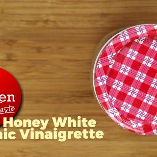 Honey White Balsamic Vinaigrette in Mason Jar