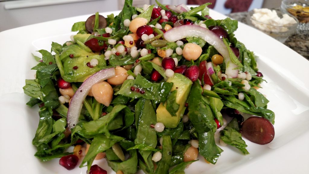Out of the World Spinach Salad // Tiny Kitchen Big Taste