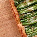Green Bean Tart on table