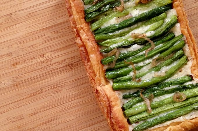 Green Bean Tart on table