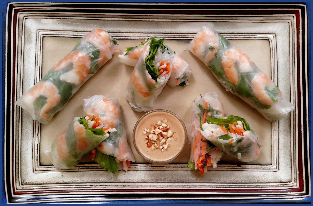 Summer Lovin' Spring Rolls // Tiny Kitchen Big Taste