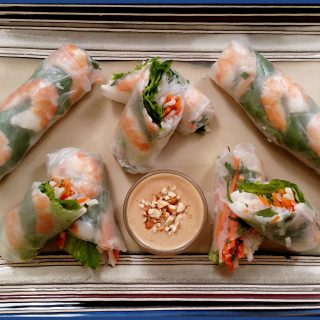 Spring Rolls on a plate
