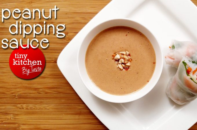 Peanut Dipping Sauce // Tiny Kitchen Big Taste