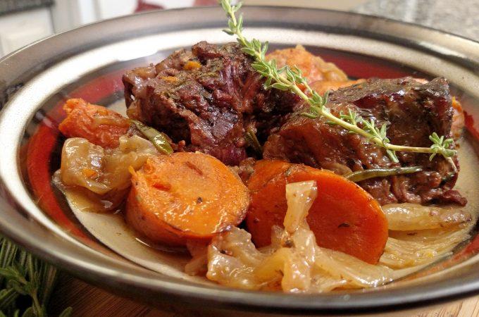 Pot roast in a bowl