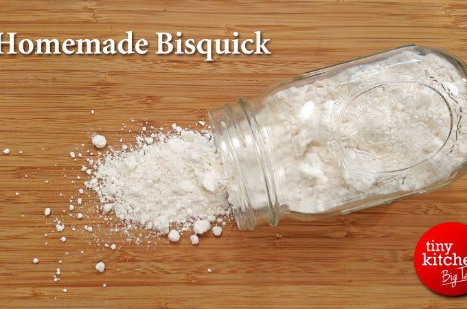 flour spilled from a mason jar