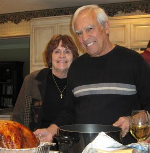 Mom and Dad at Thanksgiving