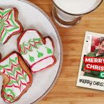 christmas cookies and milk on table