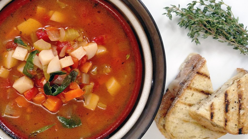 Mom's Vegetable Soup // Tiny Kitchen Big Taste