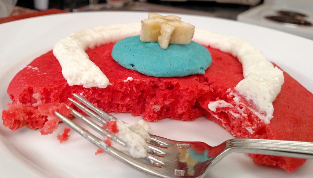 Captain America Pancakes - Tiny Kitchen Big Taste