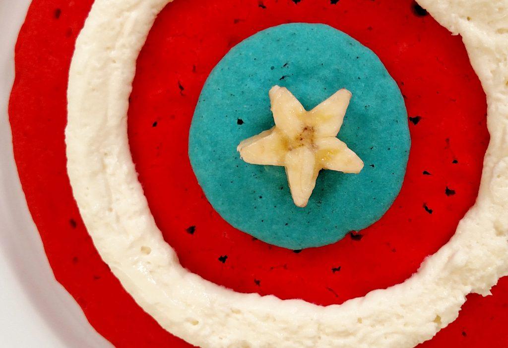 Captain America Pancakes // Tiny Kitchen Big Taste