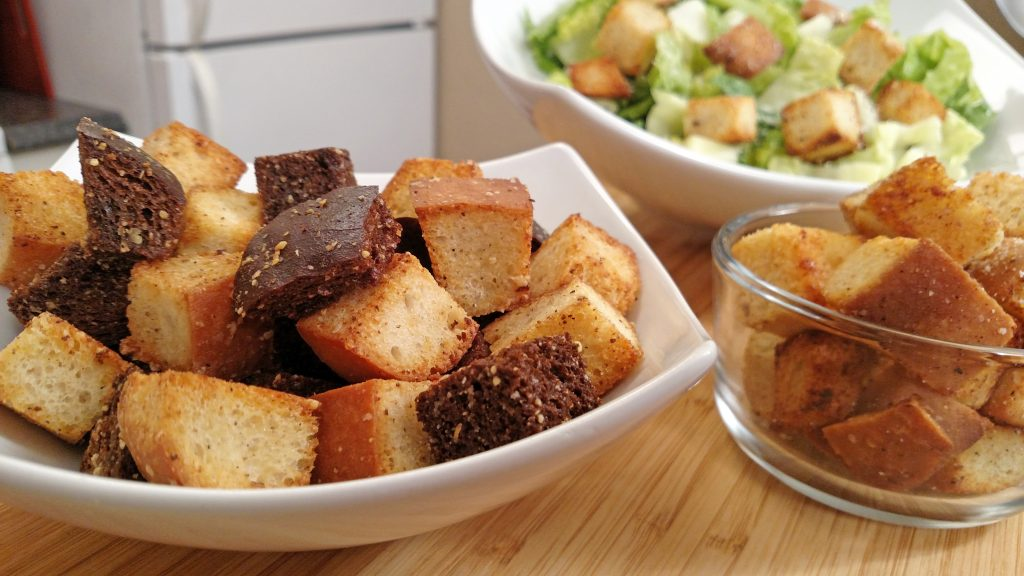 Croutons // Tiny Kitchen Big Taste