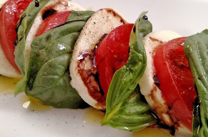 Caprese Salad with a Balsamic Glaze