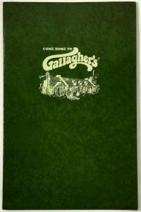 Vintage Gallagher's Menu