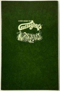 Vintage Gallagher's Menu