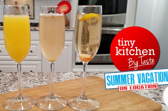TKBT On Location:<br>Sparkling Cocktails (Morning Mimosa,<br>TK Bay Berry Fizz, Classic Champagne Cocktail)