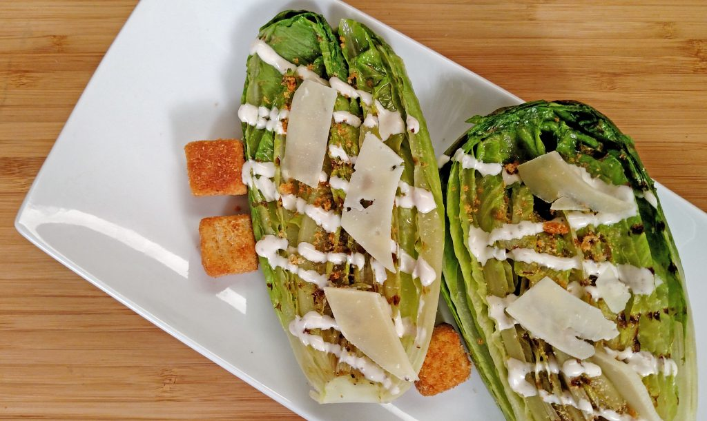 Grilled Caesar Salad // Tiny Kitchen Big Taste