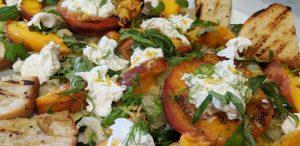 Grilled Summer Peach Salad // Tiny Kitchen Big Taste