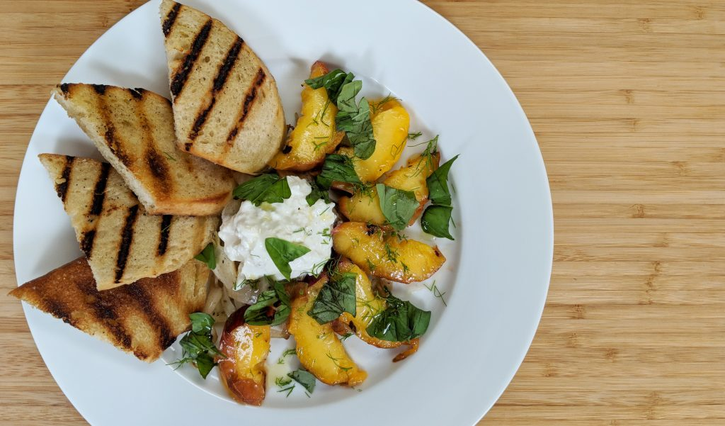 Grilled Summer Peach Salad // Tiny Kitchen Big Taste