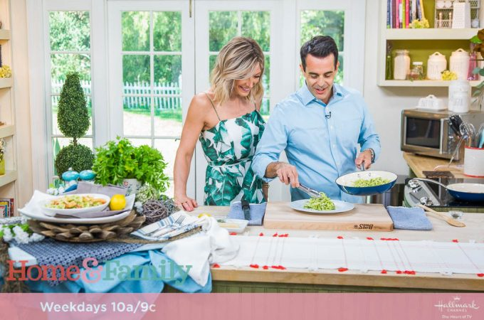 Zoodle Lemon Chicken<br>Cooking with Debbie Matenopoulos</br>On Hallmark Home & Family
