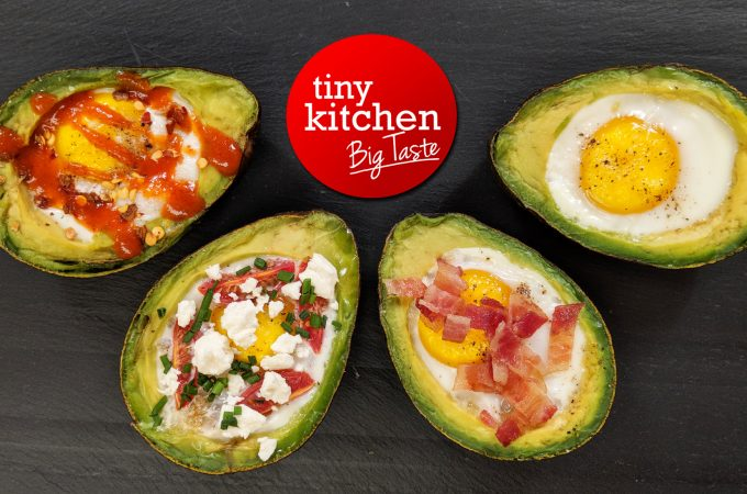 Avocado Baked Eggs // Tiny Kitchen Big Taste