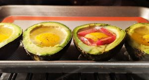 Avocado Baked Eggs // Tiny Kitchen Big Taste
