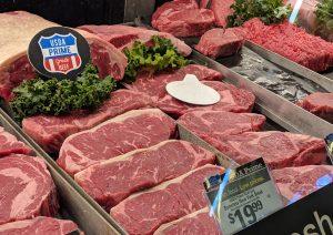 Display of New York Steak