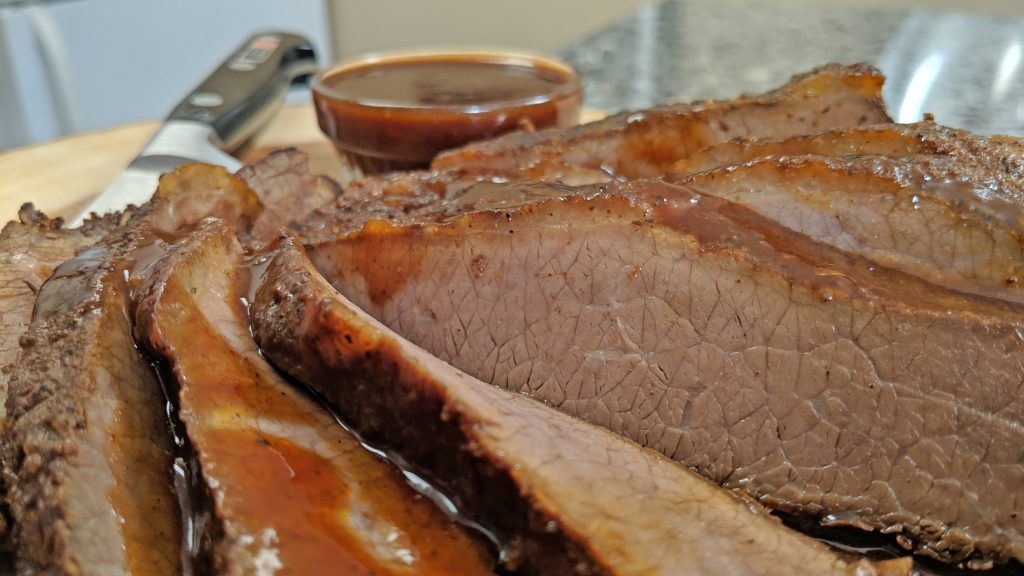 close up of brisket