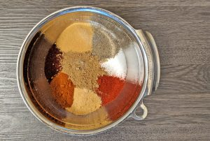 multiple spices in a bowl