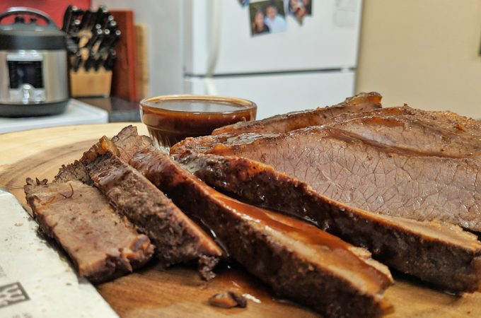 Instant Pot sliced brisket