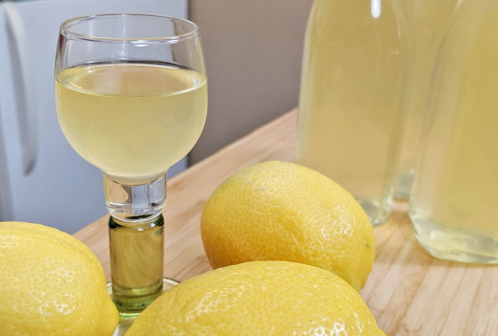limoncello in glass