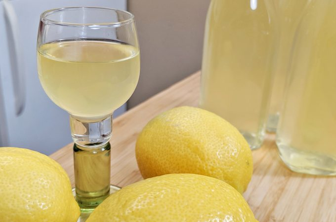 limoncello in glass