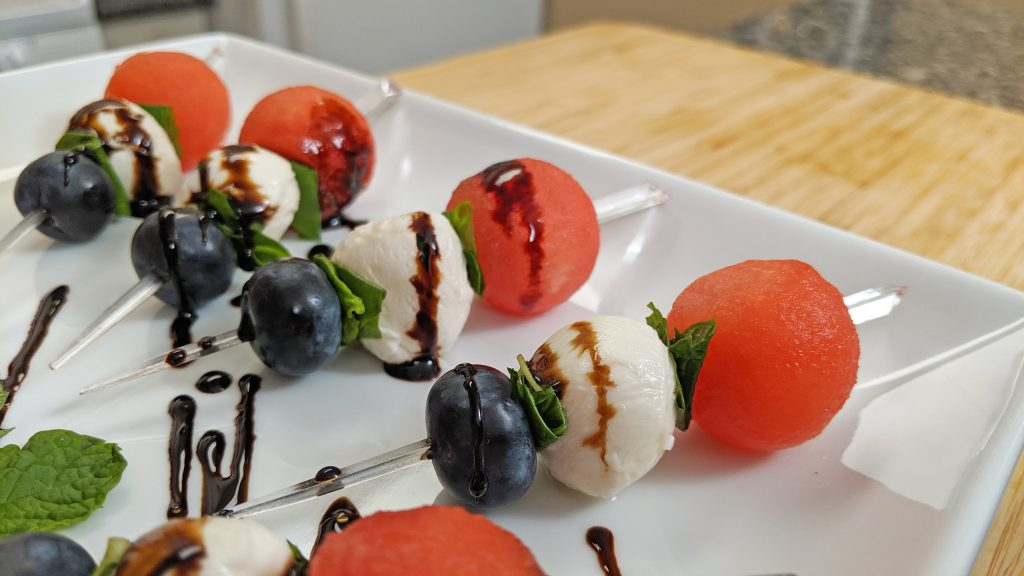 Fruit Skewers with Balsamic Glaze
