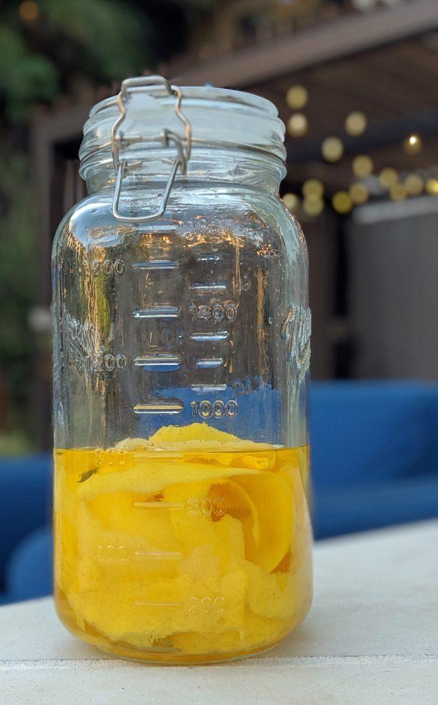 lemoncello in jar