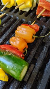 hot peppers on grill